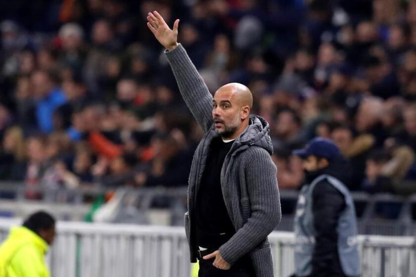 El técnico del Manchester City, Pep Guardiola. EFE/Archivo