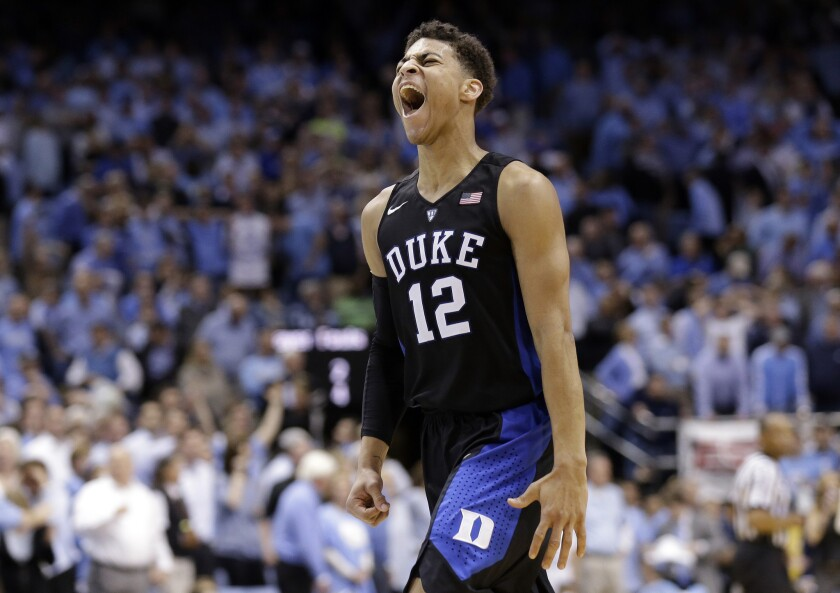 No. 20 Duke wins a thriller over No. 5 North Carolina, 74-73
