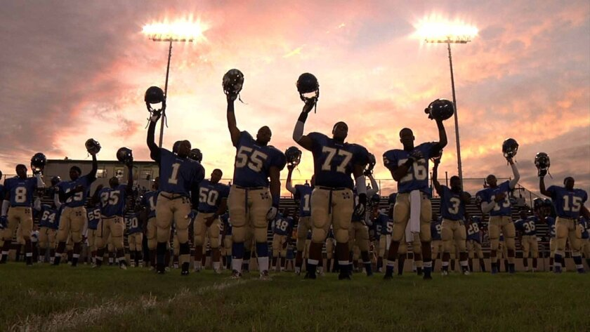"""Dan Lindsay and T.J. Martin's documentary """"Undefeated"""" is an intimate chronicle of three underprivileged student-athletes from inner-city Memphis and the volunteer coach trying to help them beat the odds."""