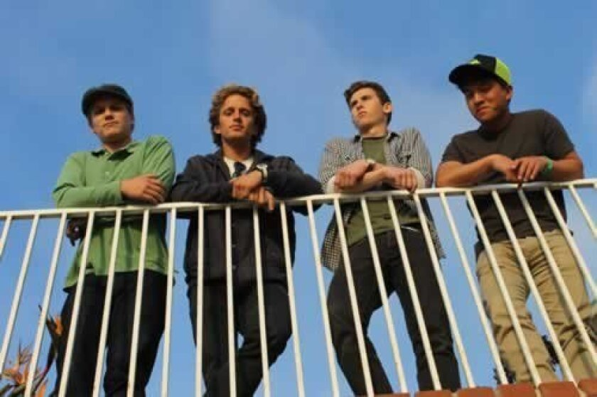The Saline Solutions (from left): Drummer Daniel O'Keefe, lead vocalist and guitarist Mitch McCullough, bassist Tim Rayner and keyboardist Jeff Wang. Courtesy Photos