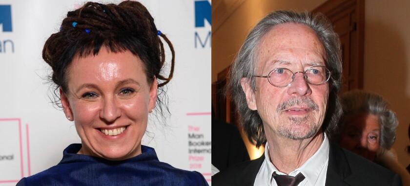 Olga Tokarczuk, a Polish author, and Peter Handke, win the Nobel Prize in Literature