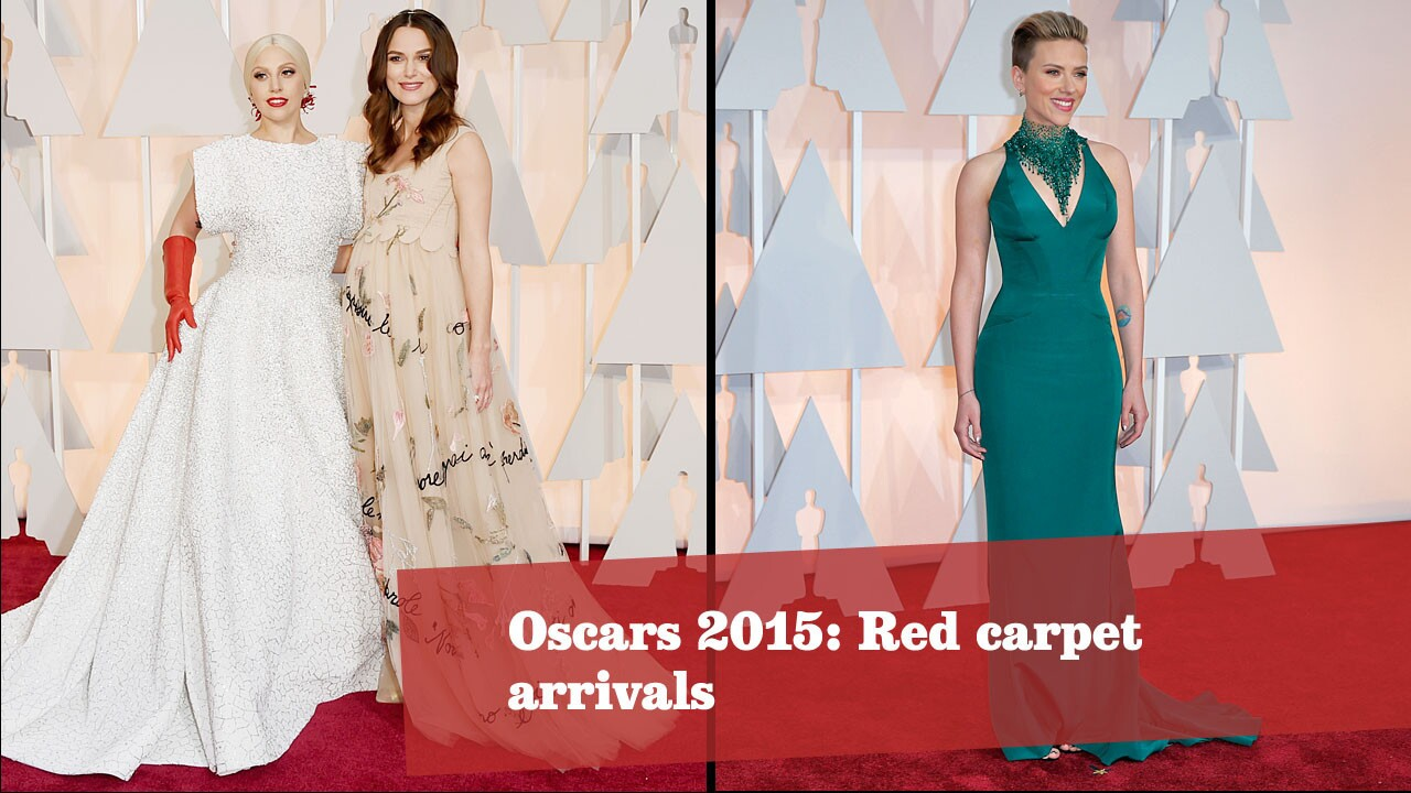 Celebrities arrive on the red carpet at Hollywood & Highland Center for the 87th Academy Awards. More Oscars: Full coverage | Complete list | The show | Quotes | Backstage | Best & worst | Winners' room | Top nominees | Video Q&As