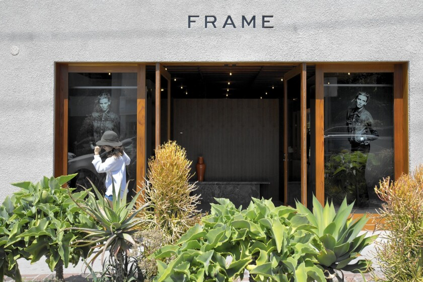 Frame's first brick-and-mortar store is located on Melrose Place in Los Angeles.