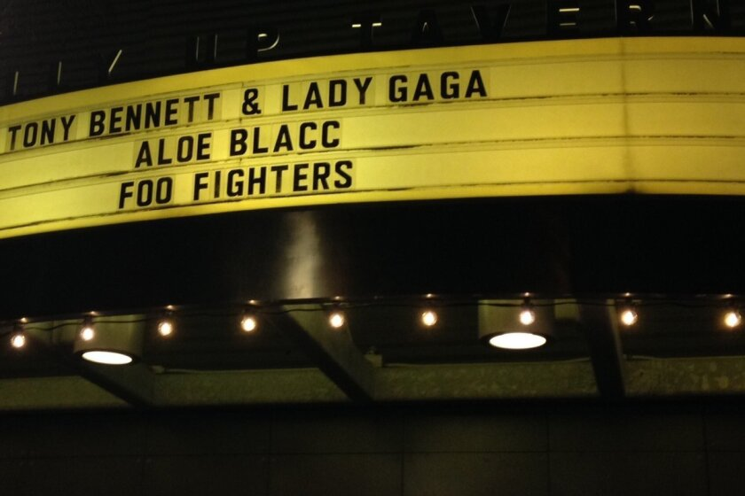 A private party at the Belly Up in Solana Beach had quite the lineup on Jan. 8, 2015.