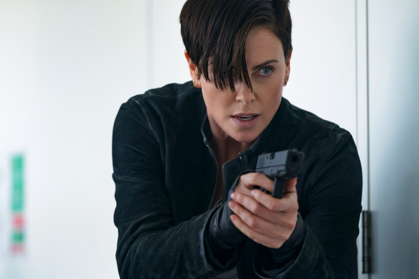 """Charlize Theron, whose """"The Old Guard"""" was recently released by Netflix, leads the Comic-Con lineup on Friday."""