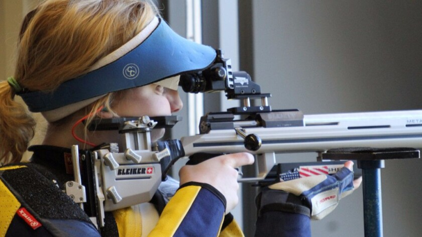 Ginny Thrasher won the women's 10-meter air rifle competition at the 2016 Summer Games in Rio de Janeiro on Aug. 6.
