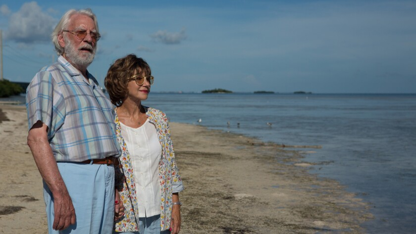 """Donald Sutherland and Helen Mirren in the movie """"The Leisure Seeker."""""""