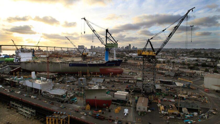 The 86-acre General Dynamics NASSCO shipyard facilty in Barrio Logan.