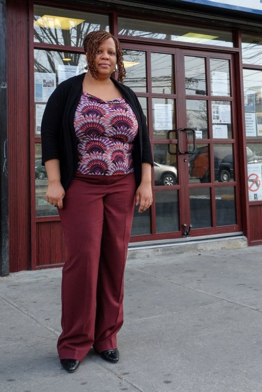 Founder of Urban Neighborhood Services, Mathylde Frontus outside her offices - a new anti-violence program is starting in Coney Island that hopes to head off any violence before it begins or escalates.