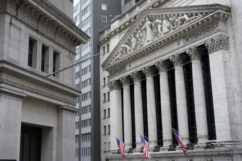 The New York Stock Exchange is seen in New York, Monday, Nov. 23, 2020.