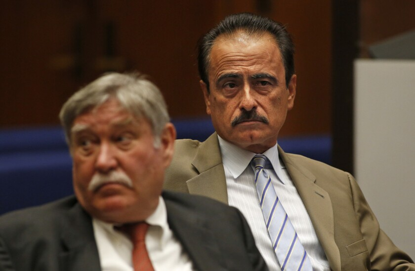 Richard Alarcon, right, and his attorney at his perjury and voter fraud trial. Alarcon is the ninth politician since 2002 to be successfully prosecuted in L.A. County for not living in the district they were elected to represent.