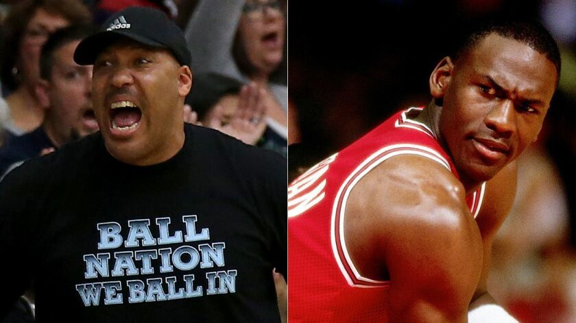 Lavar Ball Father Of Ucla Star Lonzo Ball Says He Could Have Beaten Michael Jordan One On One Los Angeles Times