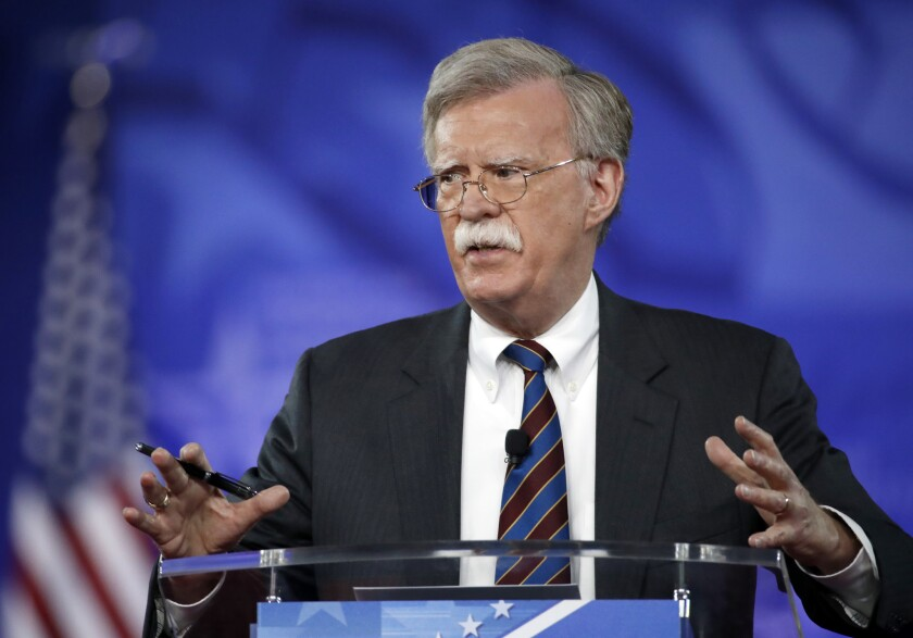 John Bolton, President Trump's former national security advisor