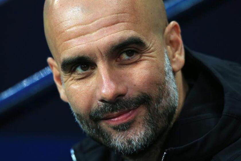 El entrenador del Manchester City, Pep Guardiola. EFE/Archivo