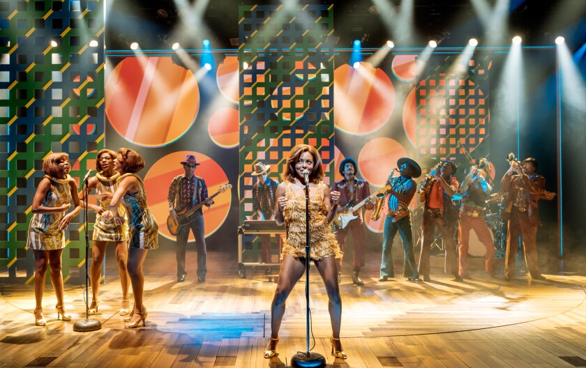 """Adrienne Warren and the company of """"Tina: The Tina Turner Musical."""""""