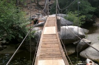 A Minute Away: Under Swinging Bridge, Wawona, Yosemite