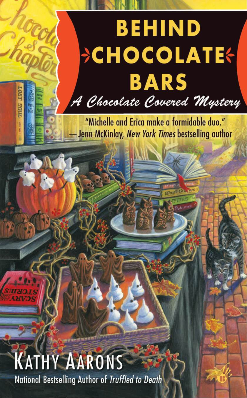 "The book cover for ""Behind Chocolate Bars"""