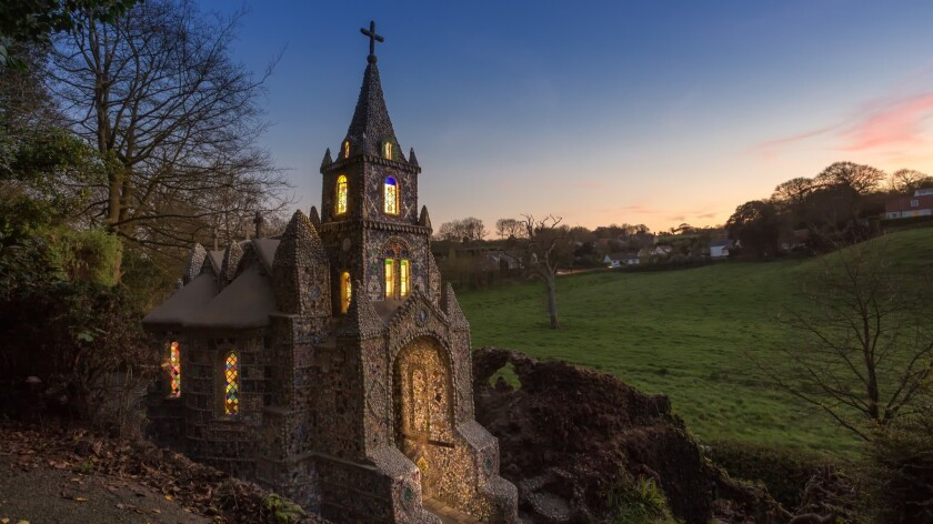 The scaffolding is down at The Little Chapel and it is now illuminated at night. Go & take a peek if