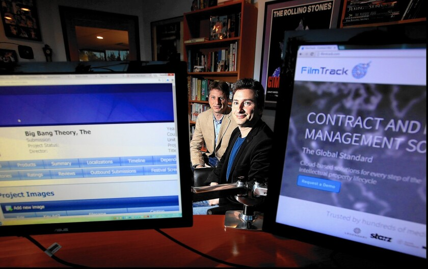 Brothers Stephen and Jason Kassin are co-founders of FilmTrack, a Studio City company that helps Hollywood keep track of the intellectual property generated by entertainment companies.