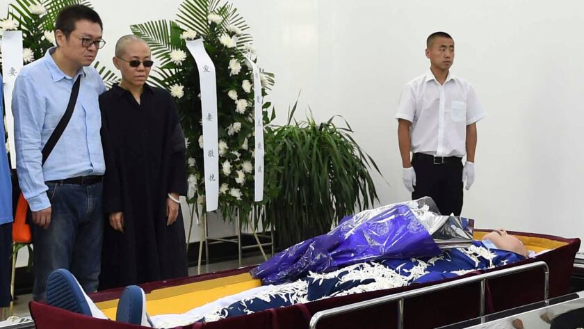 In this photo provided by the Shenyang Municipal Information Office, Liu Xia, wife of Liu Xiaobo and