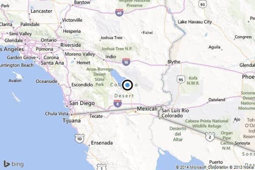 Earthquake: 3.3 quake strikes near Calipatria, California