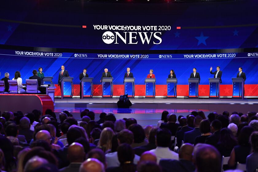 The Democratic presidential debate at Texas Southern University in Houston.
