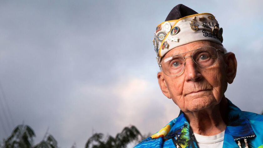 Stuart Hedley, 95, was a crew member on the battleship West Virginia on Dec. 7, 1941, when the Japanese Navy attacked Pearl Harbor.
