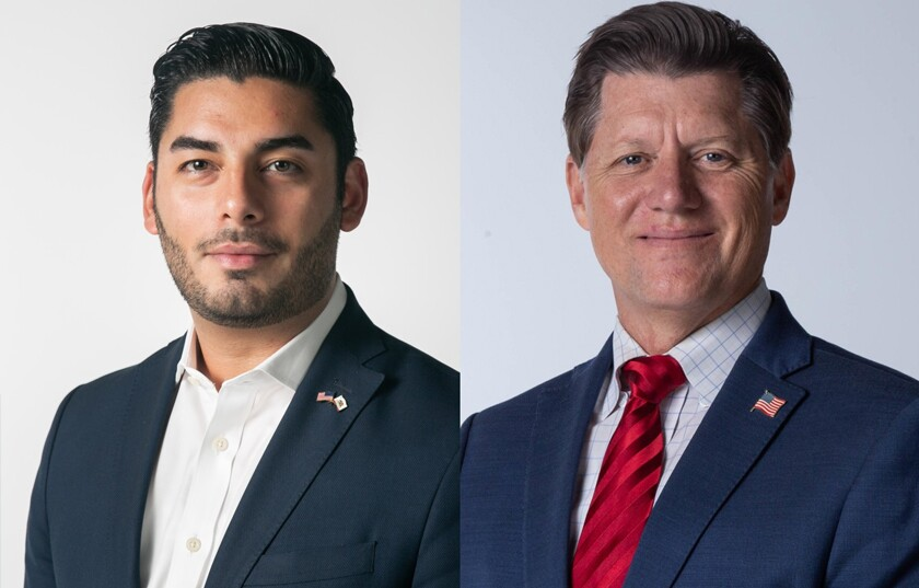 Democrat Ammar Campa-Najjar and Republican Brian Jones, candidates in the 50th Congressional District