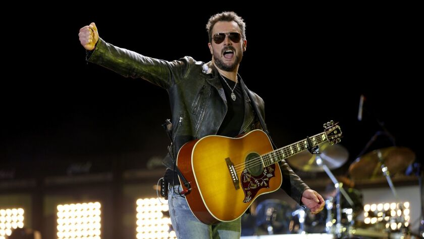 INDIO, CA -- FRIDAY, APRIL 29, 2016: Eric Church makes a headlining performance on the first day du