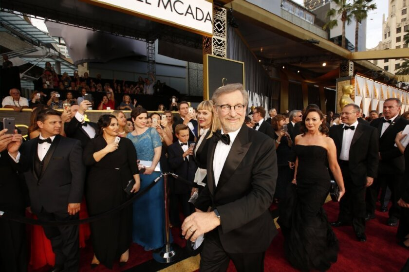 Steven Spielberg, seen here at this year's Oscars, is running for a spot on the film academy's board of governors.