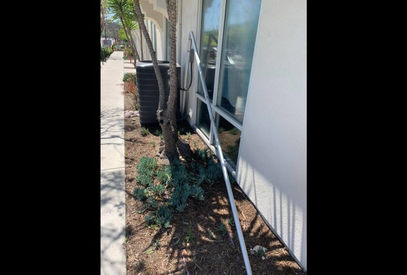 An unknown vandal or vandals damaged a flag pole at the North County LGBTQ Resource Center in Oceanside over the weekend.