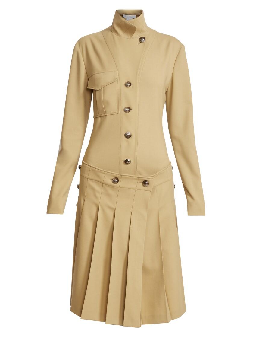 Une robe chemise en laine vierge stretch par Chloé.
