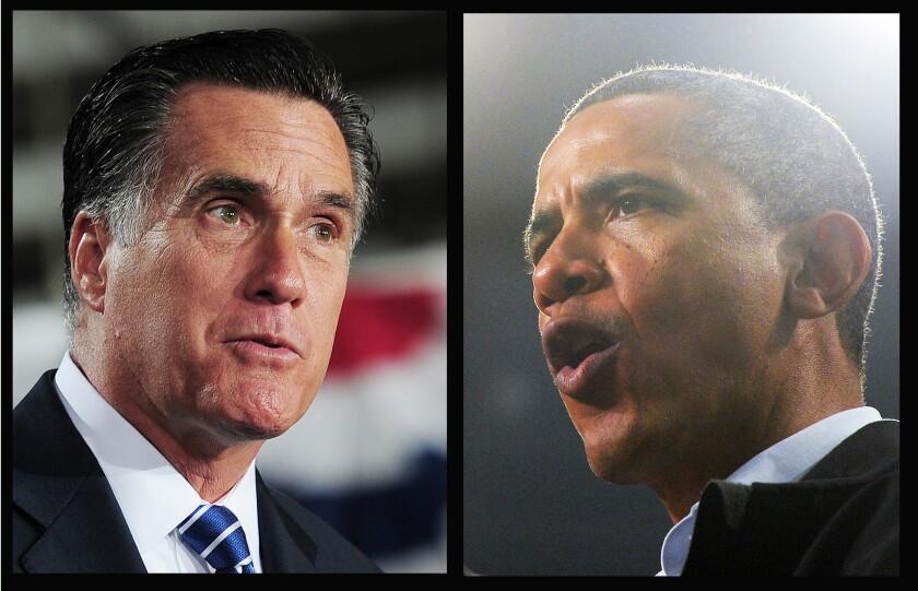 Republican nominee Mitt Romney and President Obama