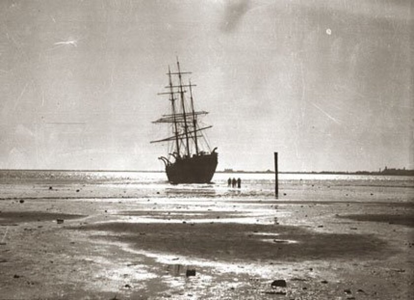 The steam-powered Narwhal, a San Francisco whaling ship, met its slow demise in San Diego waters. (Courtesy of San Diego Maritime Museum)