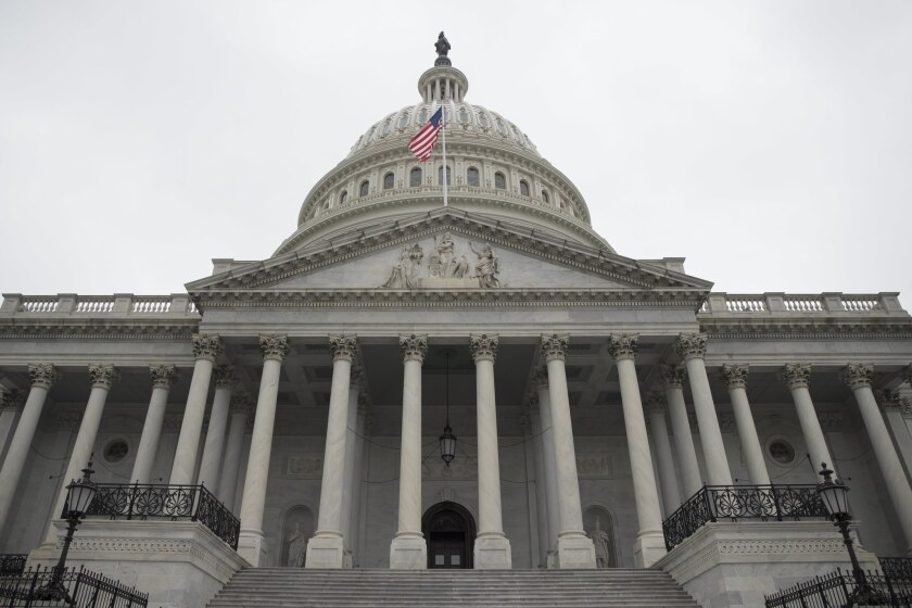 The U.S. Capitol building in 2017