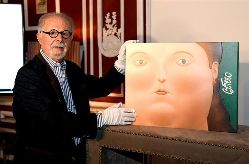 """La pintura """"El Cardenal"""", del colombiano Fernando Botero, fechada en 1979, engalanará la subasta de arte Latinoamericano que tendrá lugar este 15 de noviembre en Ciudad de México, informaron hoy los organizadores. EFE/ARCHIVO"""