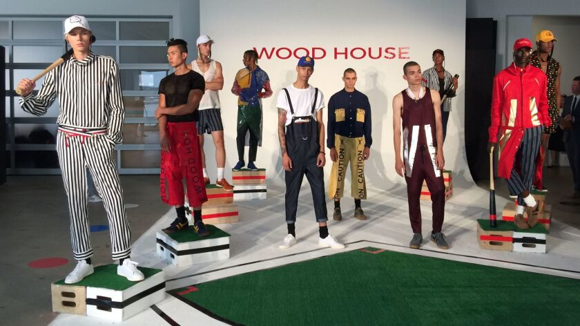 """Designer Julian Woodhouse envisioned his spring/summer collection as """"a vacation — a weekend off fro"""
