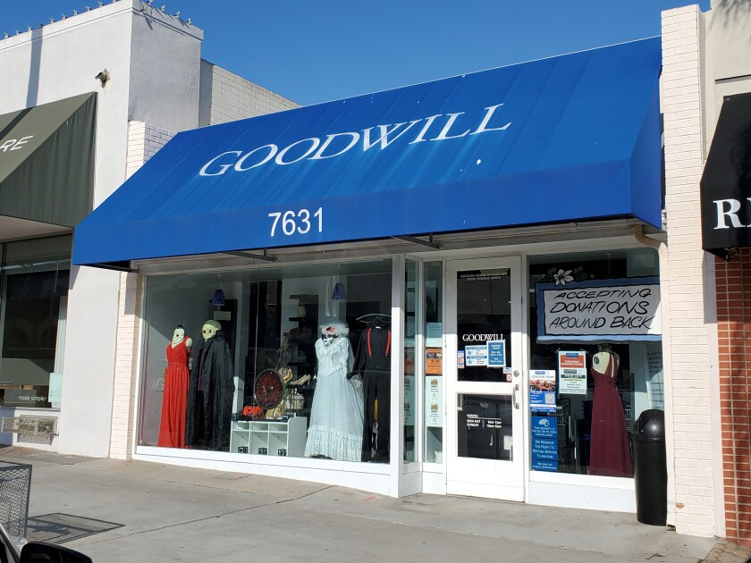 A man has been arrested on suspicion of molesting two girls at separate stores, including the Goodwill  in La Jolla.