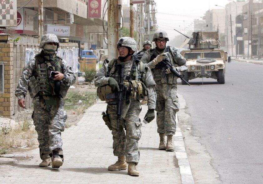 U.S. troops in Baghdad