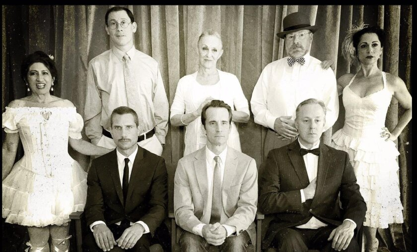 """The cast of """"The Elephant Man,"""" a joint production by the Backyard Renaissance Theatre Company and Oceanside Theatre Company."""