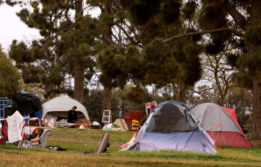 Tents at a park.