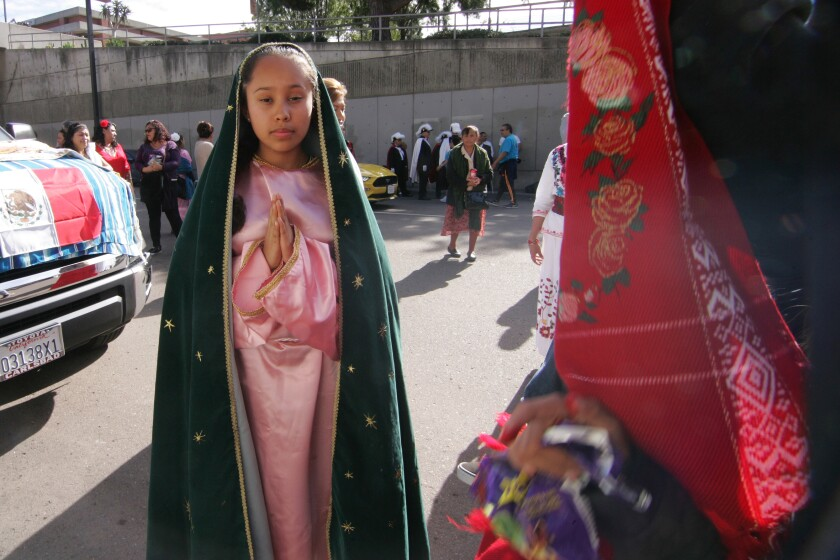 Adriana Diaz, from Ramona portrays Our Lady of Guadalupe prior to the pandemic.