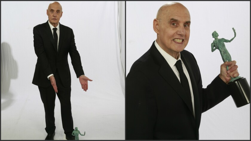 Jeffrey Tambor in the Los Angeles Times photo booth at the SAG Awards.