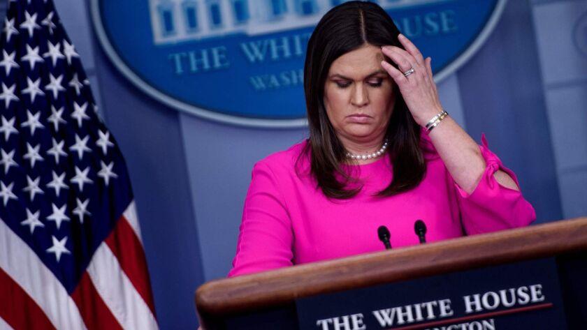 White House Press Secretary Sarah Huckabee Sanders on June 25.
