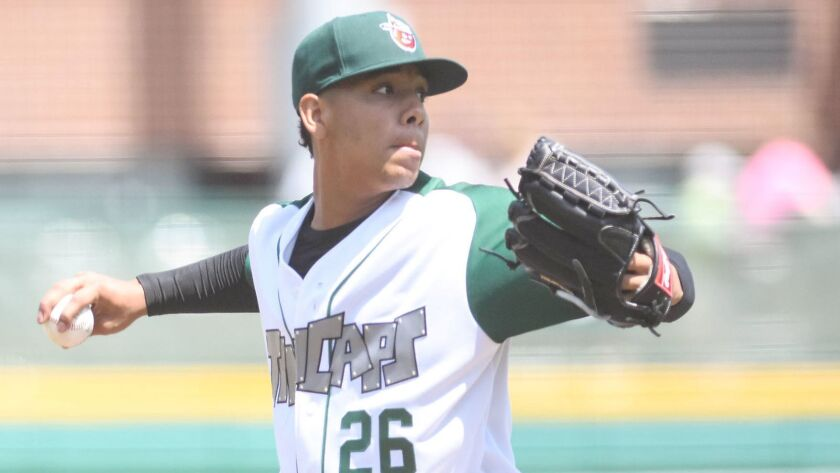 Padres prospect Luis Patino pitches for low-A Fort Wayne.