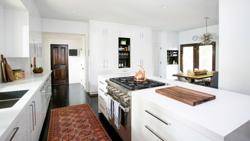 Christina Applegate's kitchen designed by Laurel & Wolf.