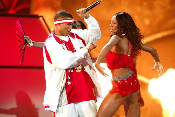 Rapper Nelly performs during the 45th Grammy Awards at Madison Square Garden on Feb. 23, 2003, in New York.