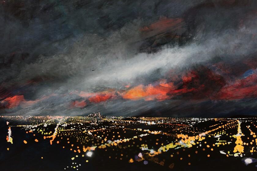 "Peter Alexander, ""Thrasher,"" 1992. Oil on canvas."