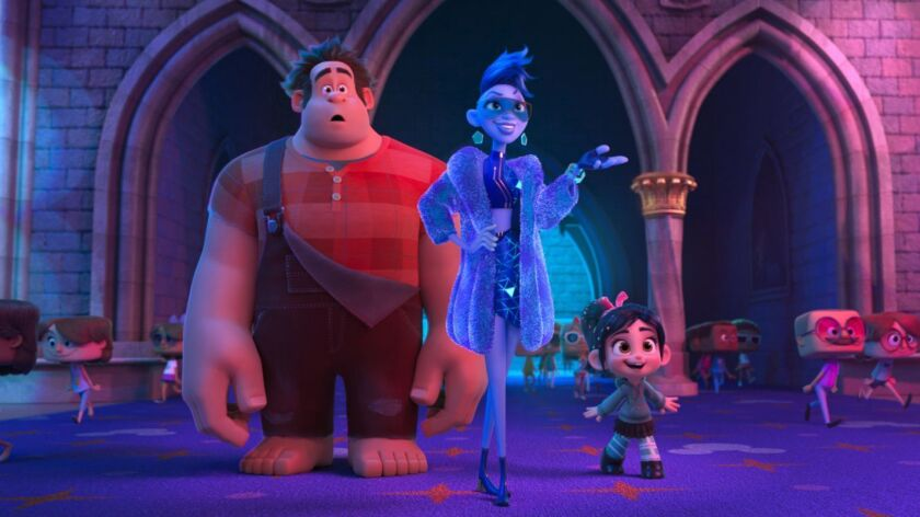 The voices of John C. Reilly as Ralph, Taraji P. Henson as the voice of Yesss and Sarah Silverman as