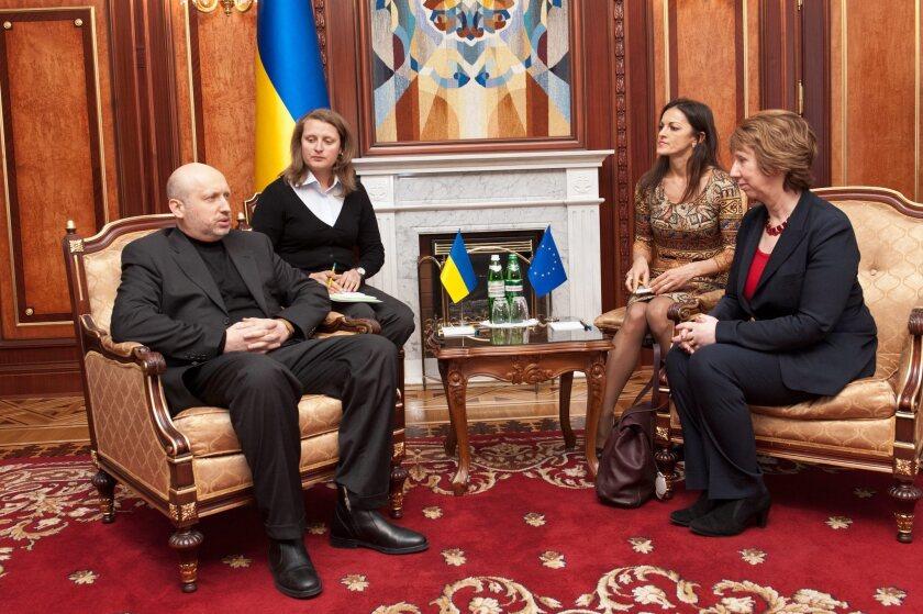 Olexander Turchynov, Catherine Ashton